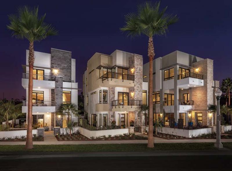 Asher at Playa Vista by KB Home | Playa Vista on sloped lot floor plans, zero lot line home, huge master suite house plans, zero-entry house plans, zero lot line design,