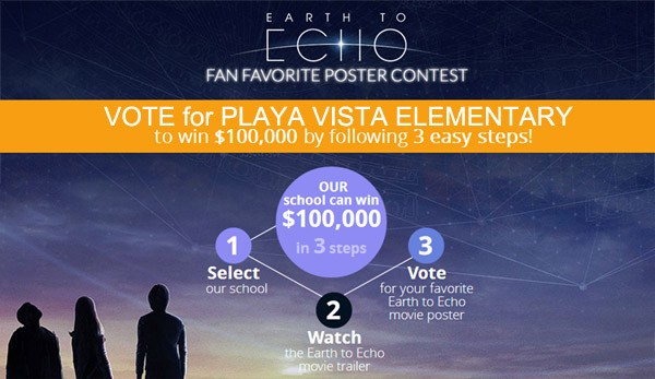 Help PVES Win $100,000!