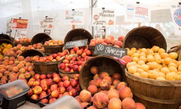 Peaches at Playa Vista Farmers Market