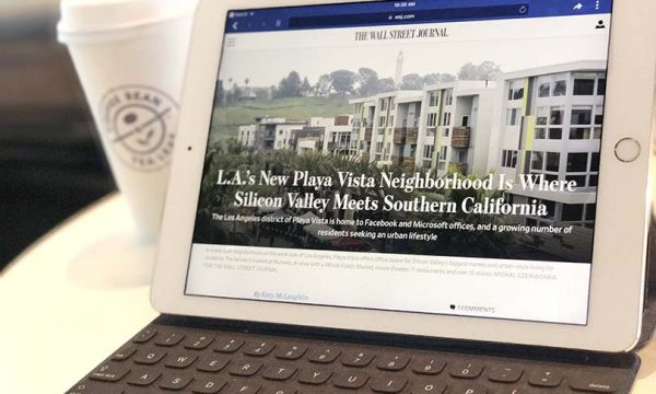 Wall Street Journal Talks Playa Vista in Silicon Beach