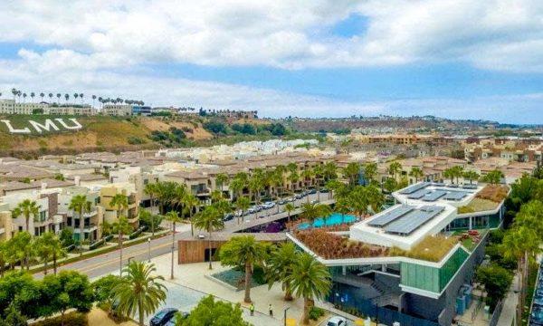 Overhead view of Playa Vista, CA