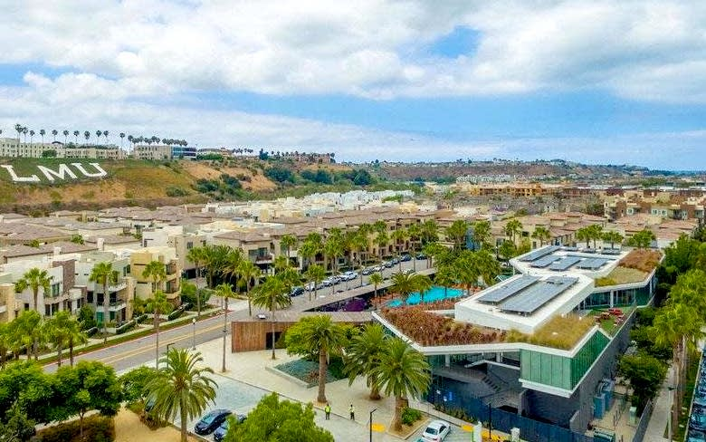 Overhead view of Playa Vista, CA