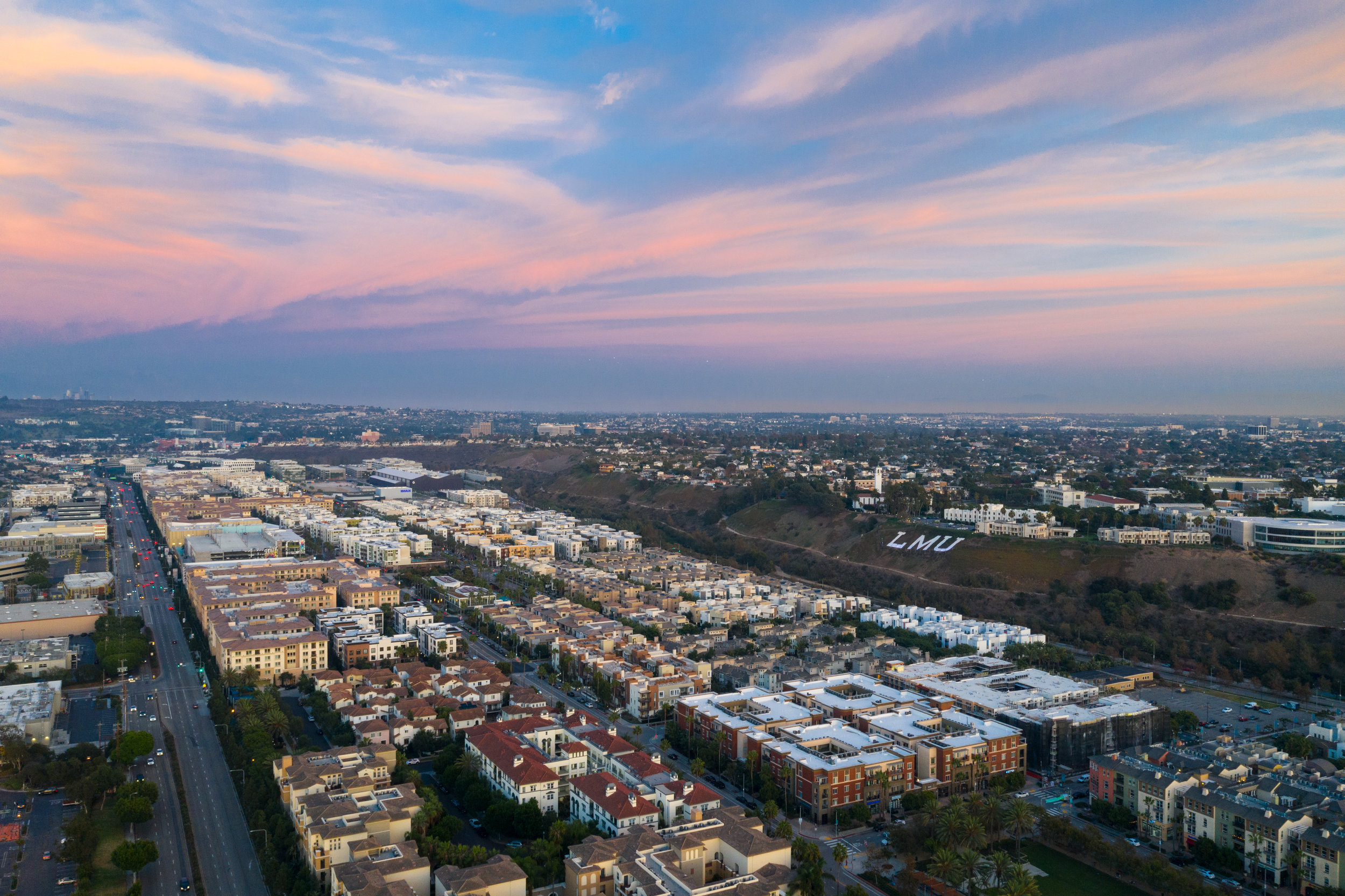 View of Playa Vista from the west